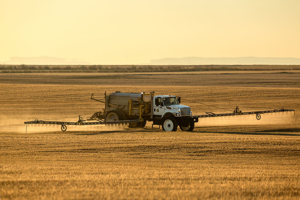 Spraying the Stubble