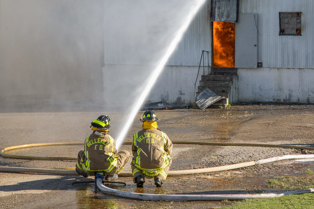 Fighting a Barn Fire