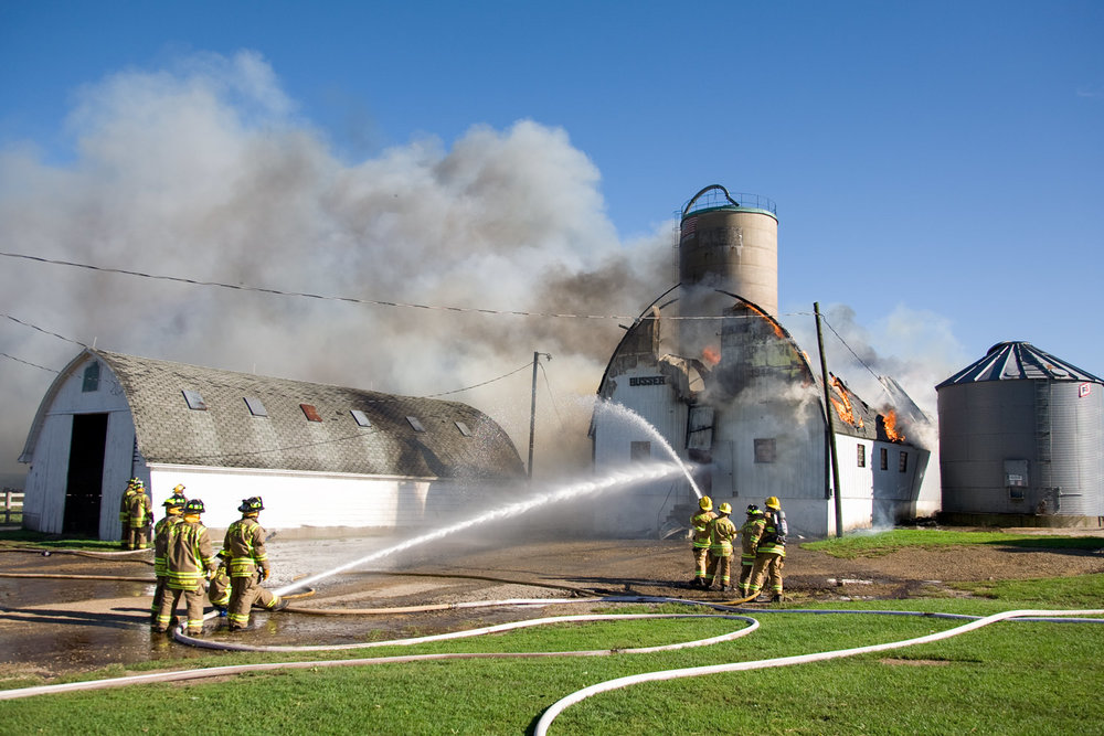 A Barn Fire Fight