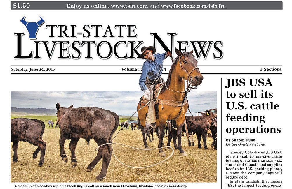 Tri-State Livestock News Western Photography Front Page Cover