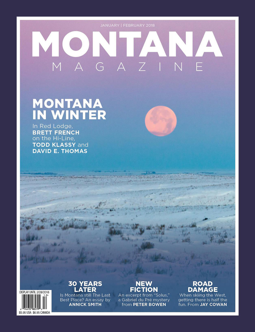 Photos of Winter in Montana on Cover of Montana Magazine