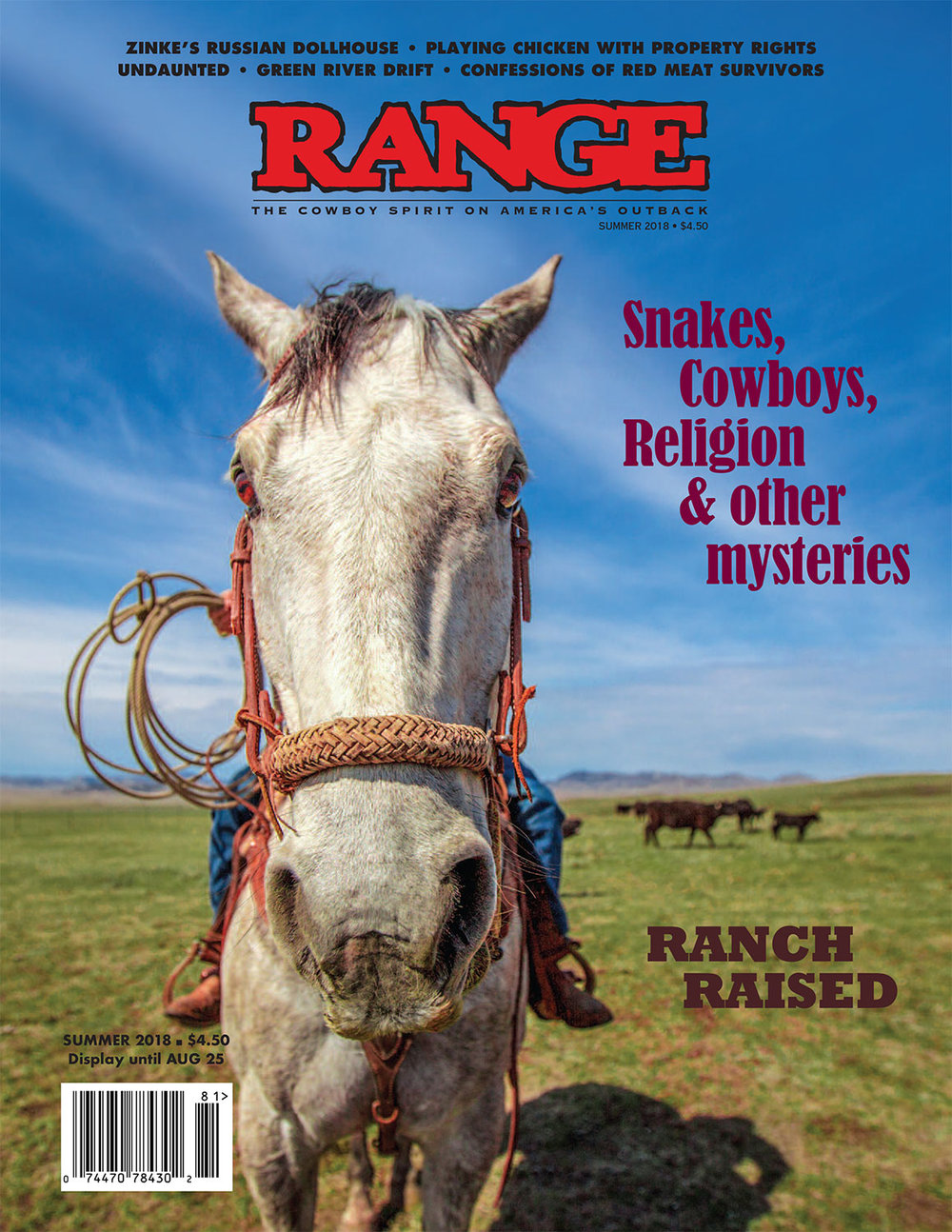 Equine Photographer in Montana Photo Appears on Cover of Range Magazine