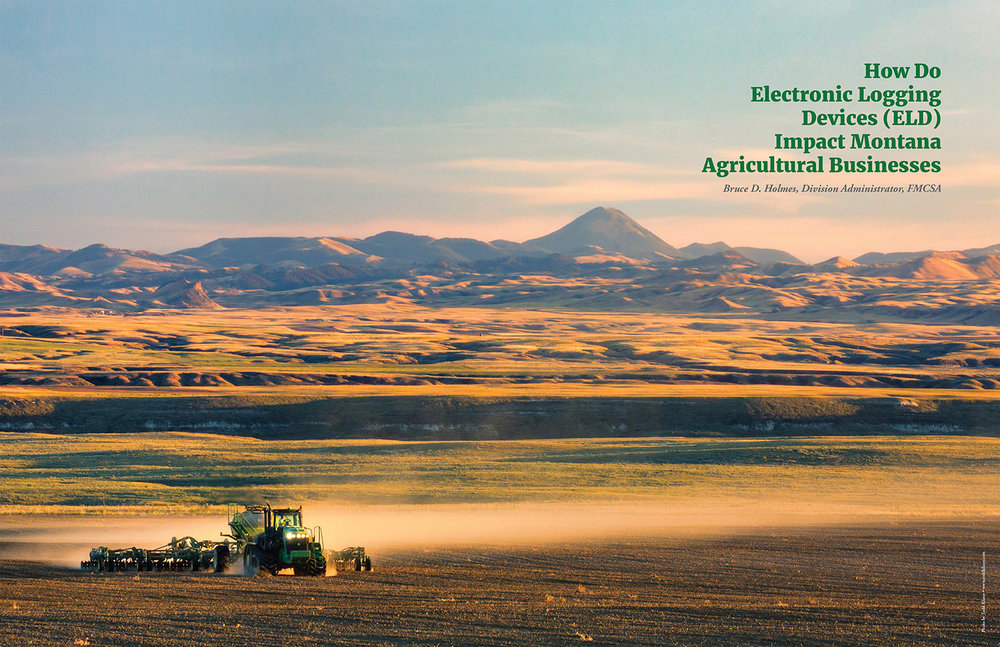 Published Photo of Tractor Seeding Wheat on Organic Farm