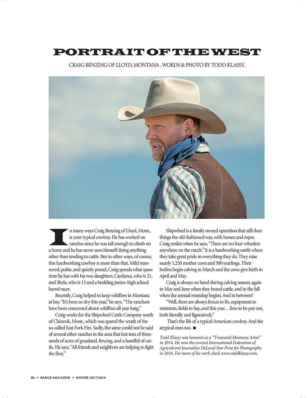 Portrait of a Cowboy Article Stock Photography Range Magazine
