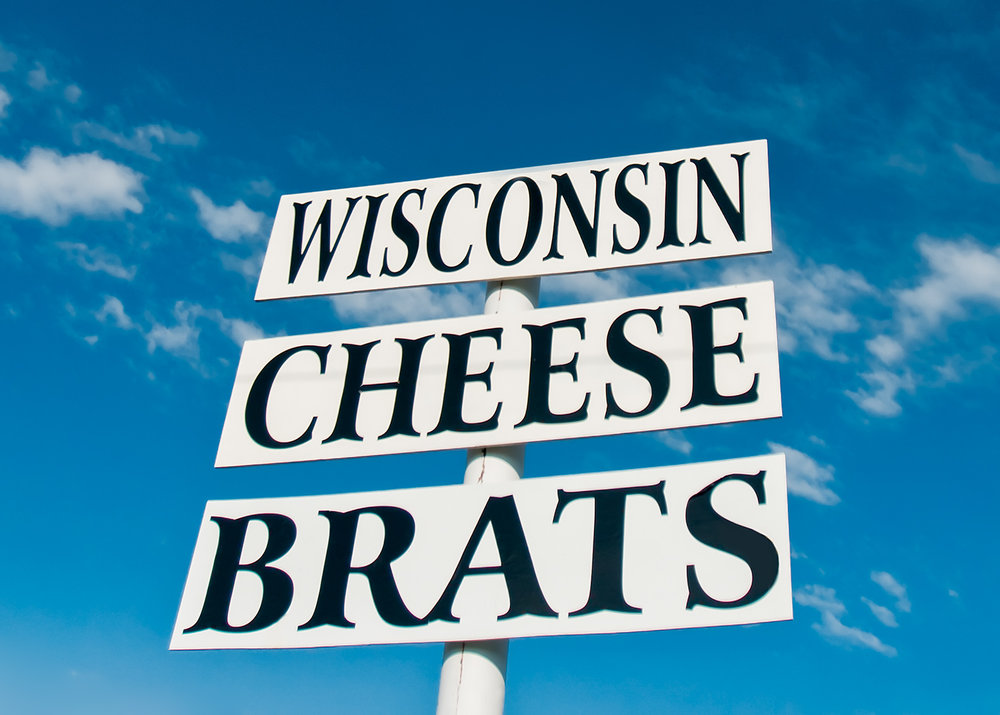 Wisconsin Cheese Brats Sign