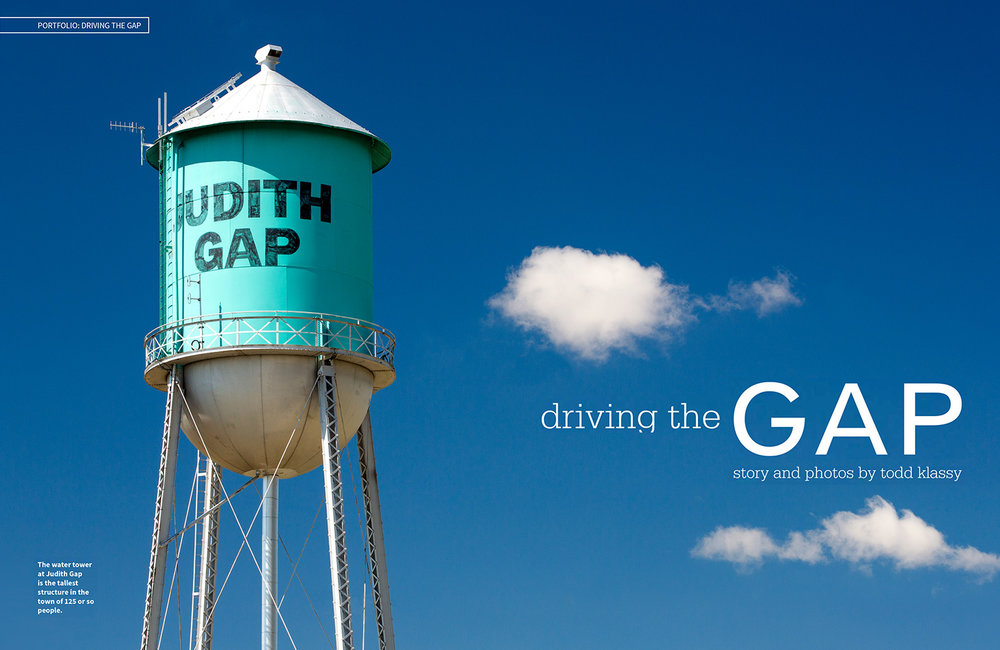 The water tower at Judith Gap is the tallest structure in town of 125 or so people.    → Buy a Print     or   License Photo