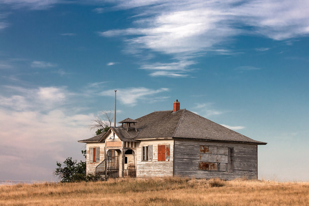 The old abandoned schoolhouse in Collins, Montana.  → Buy a Print  or  License Photo
