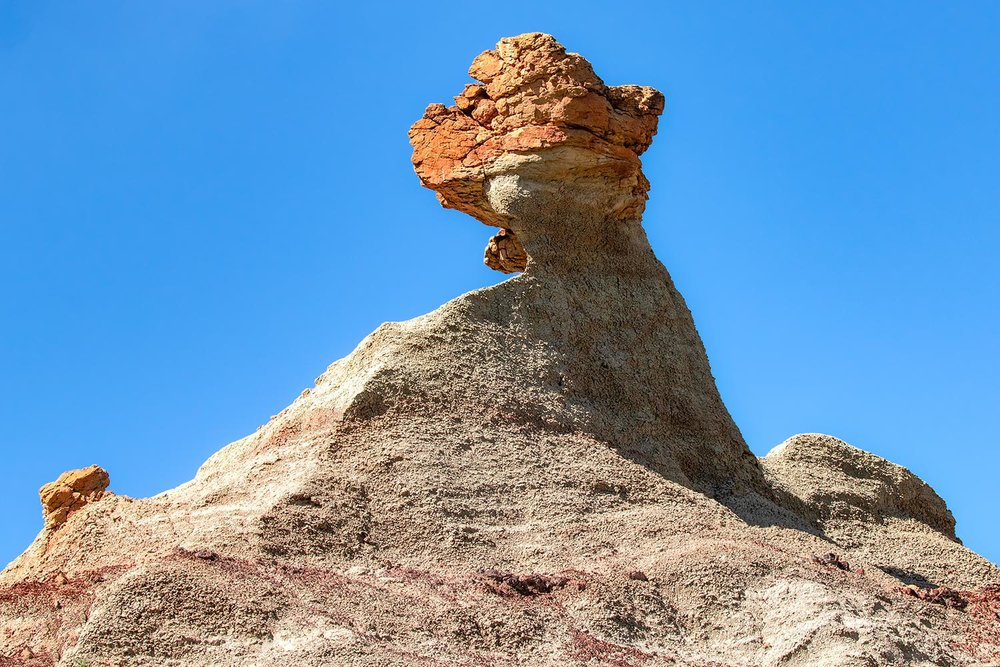 A hoodoo, or rock formation, in the Terry Badlands near Terry, Montana.  → Buy a Print    or    License Photo