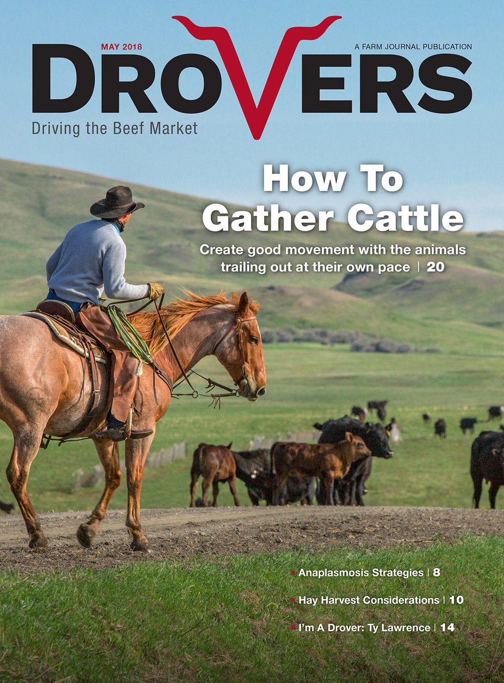 Cowboy Stock Images on Cover of Drovers Cattle Industry Trade Publication
