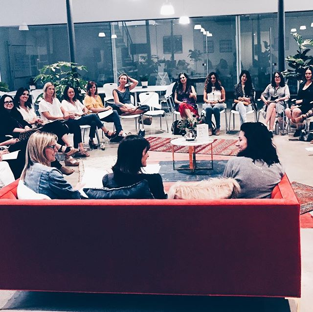 Thank you @theriveterco for providing exquisite space for this important conversation with @erinfalconer about female productivity and power. #sisterhood #womenempoweringwomen #laforcedesfemmes #womengettingshitdone