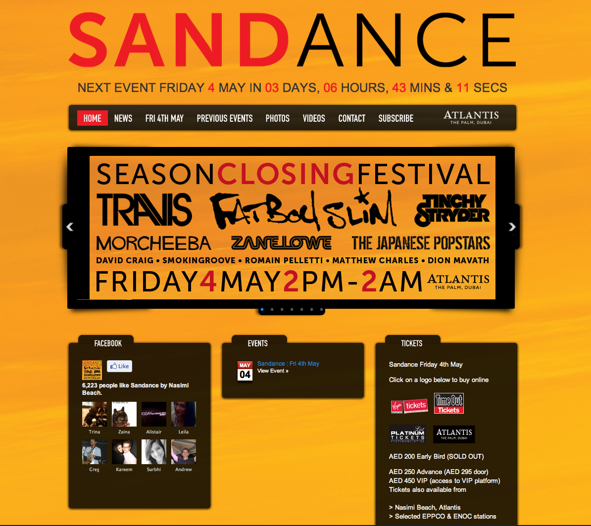 Sandance Closing party: we are looking forward to  Morcheeba and Fat Boy Slim!