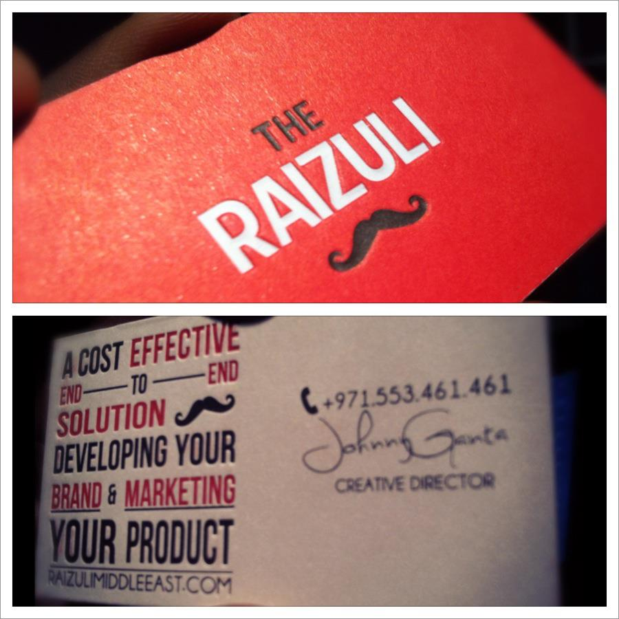 The Raizuli Business cards are here!