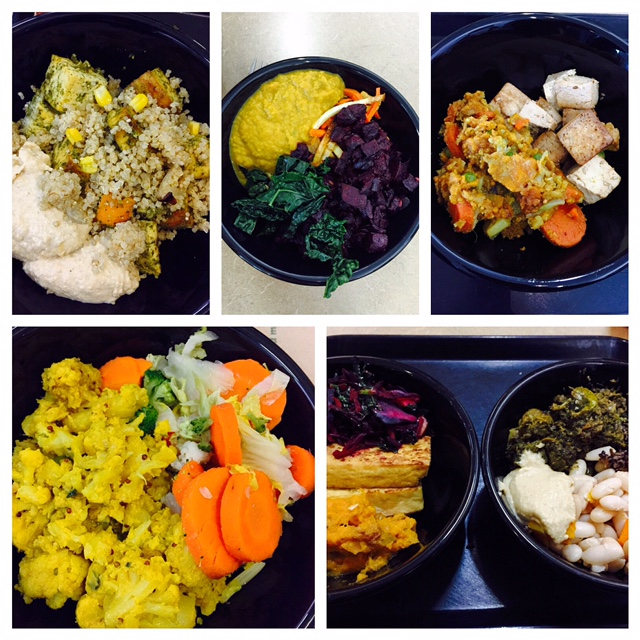 A couple of my amazing bowls from the Kripalu dining hall.