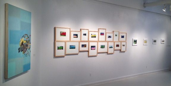 Installation shot of Paradise Deferred at the Mikhail Zakin Gallery.