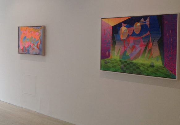 Two larger Tom Smith works at Rox Gallery.