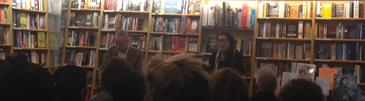 Hans Obrist and Marina Abramovic speaking at McNally Jackson.