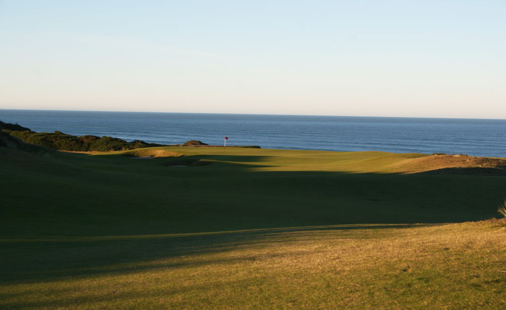 Bandon Dunes  - use land forms and long views to alter distance perception