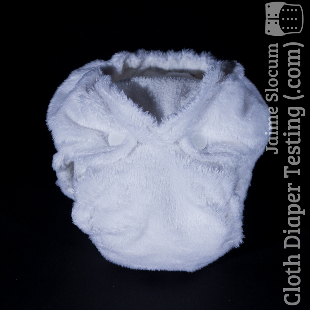 The white minky PUL THX diaper. The minky is a little thicker than I'd prefer but still completely functional.