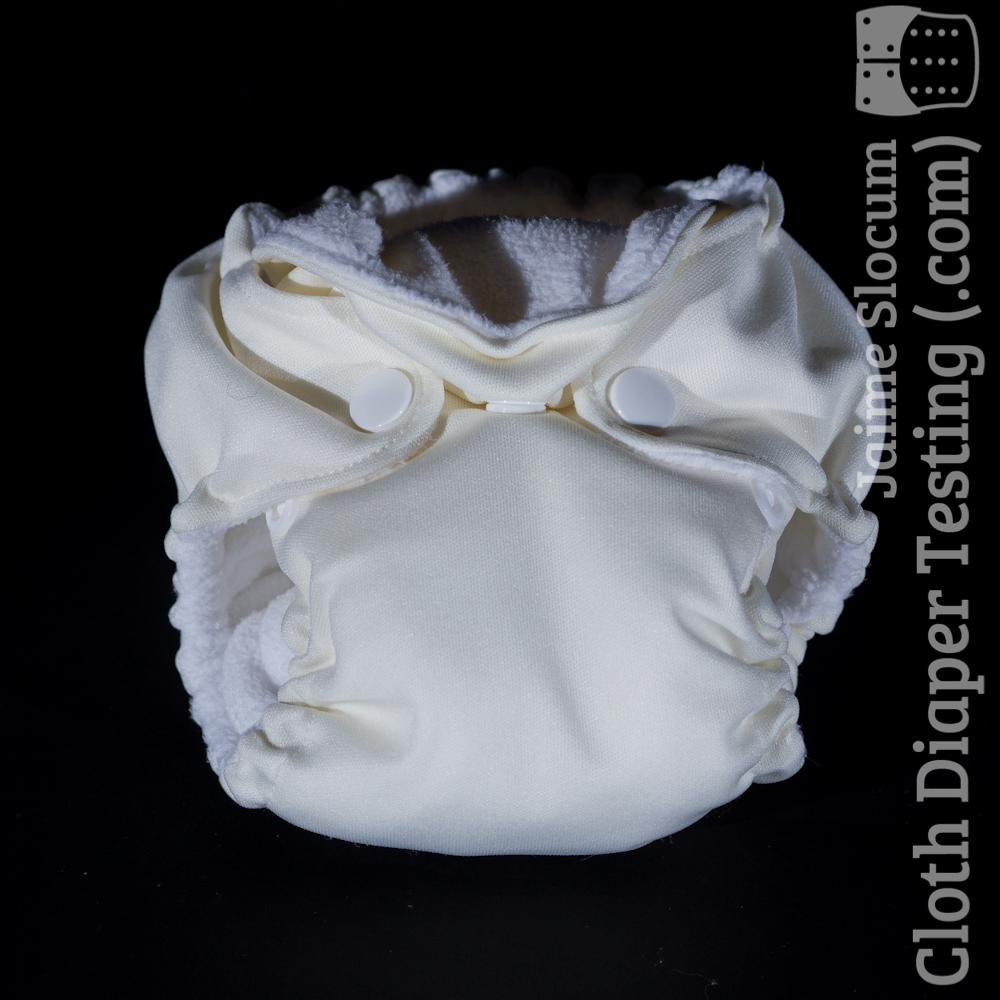 White PUL THX diaper.