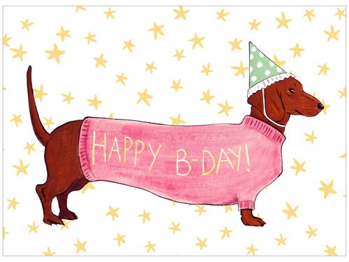happy birthday images with dogs Wiener Dog