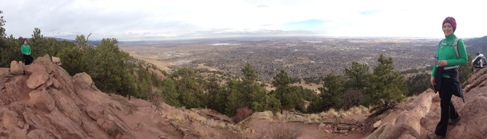 Photo taken by my son Zach on top of Mt. Sanitas.