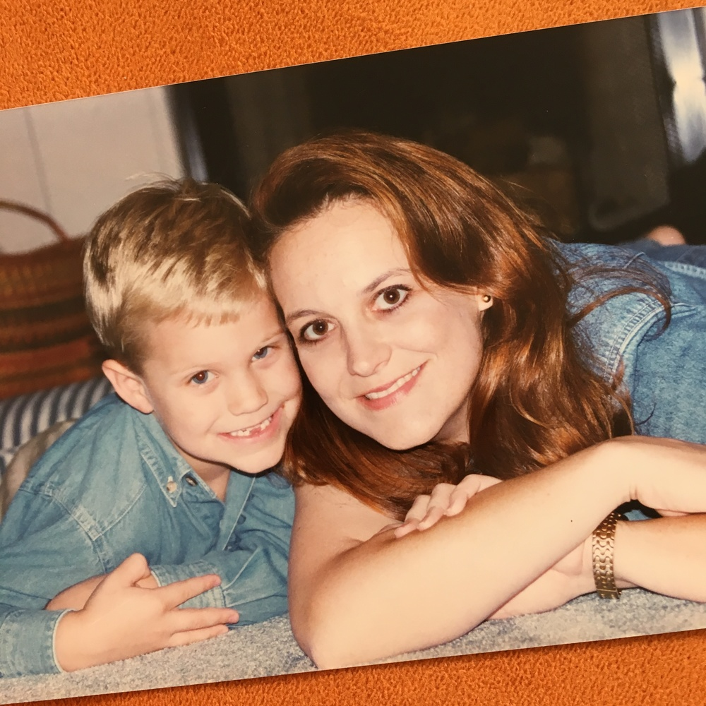 My and my kid. When he was five. And I was younger than I am now.