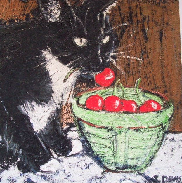 """Tuxedo and Cherries"""