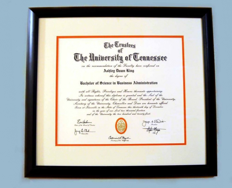 We have great prices on framing for diplomas, starting at $125!