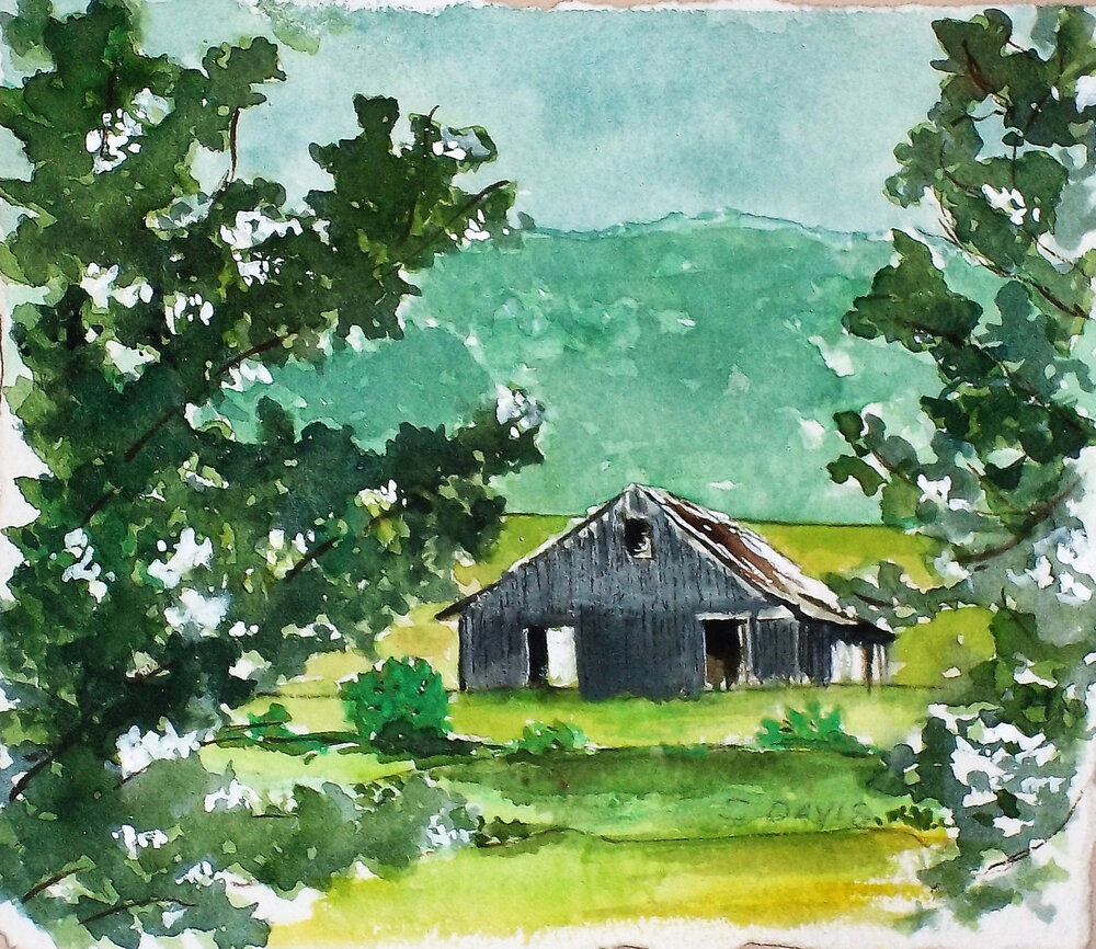 """View of a Barn"""
