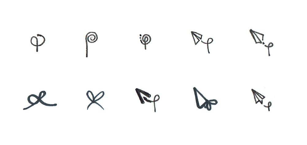 Pressie Logo exploration sketches
