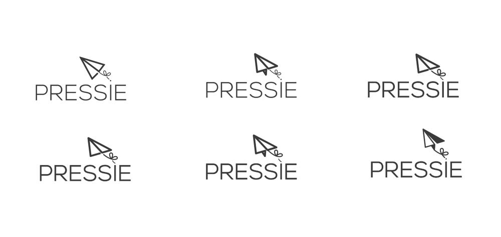 Pressie Logo brand exploration digital