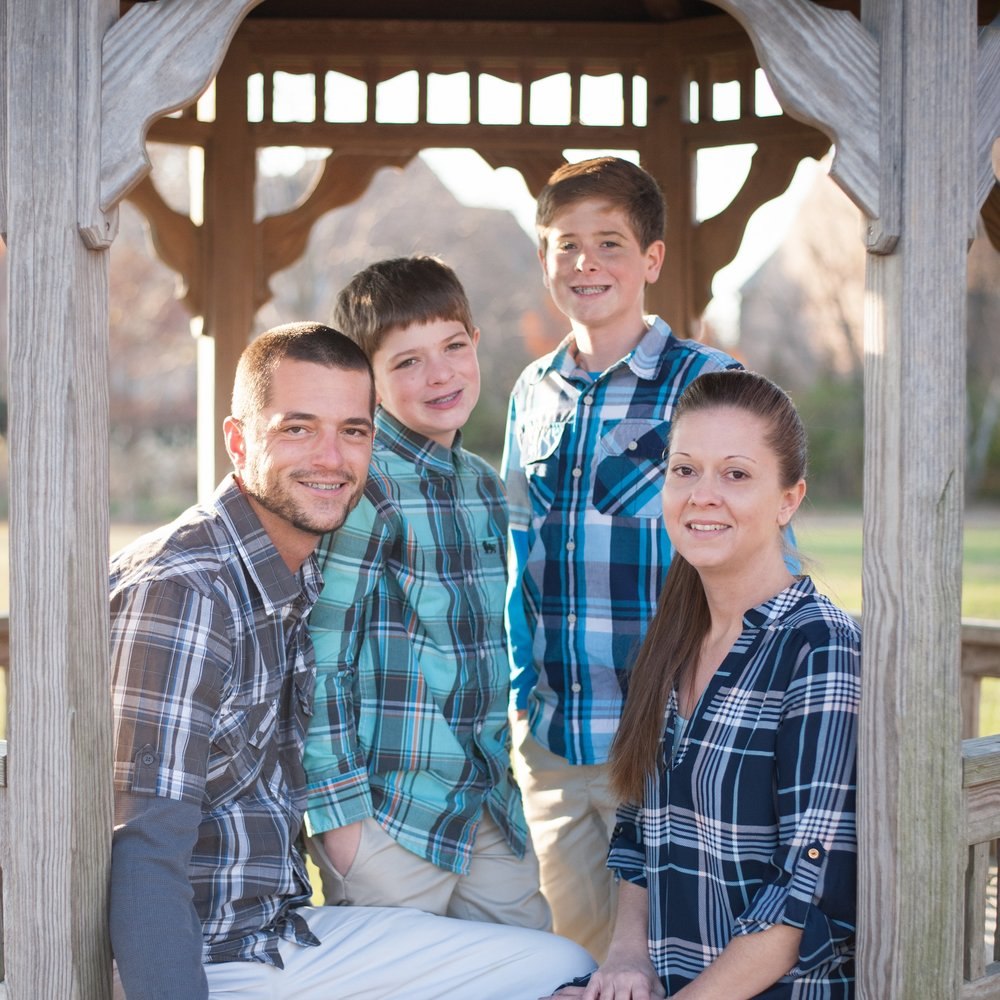 Courtney, Dean, Hayden and Hunter, 2016