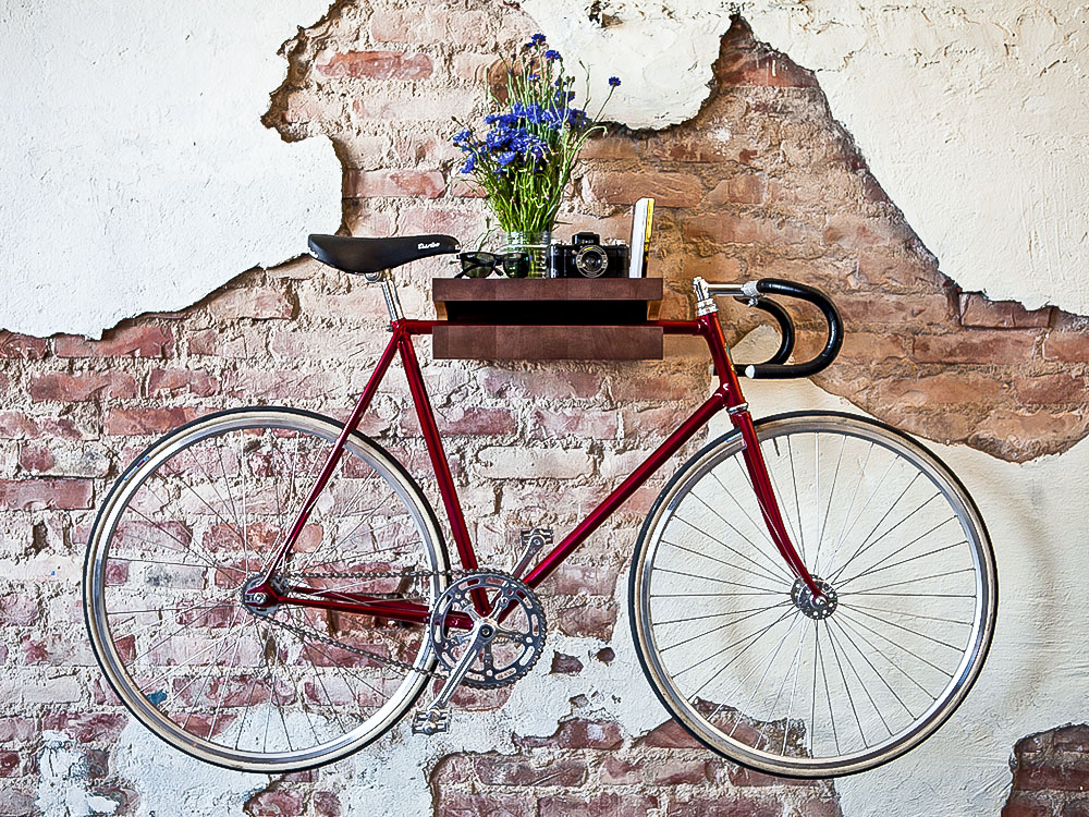 Fixa bike shelf ditmak Bicycle bookshelf