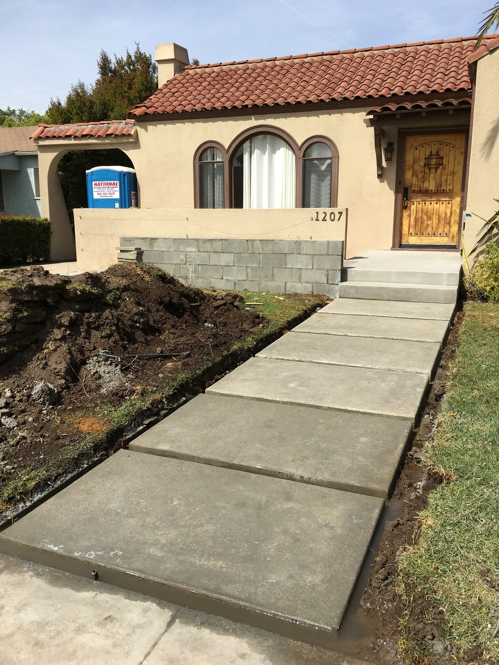 Concrete Entry Steps