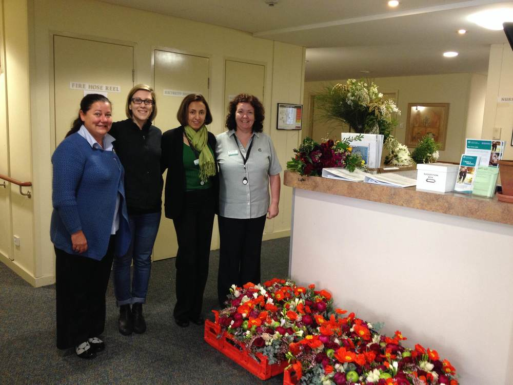Benedetta with staff at Columbia Aged Care Services