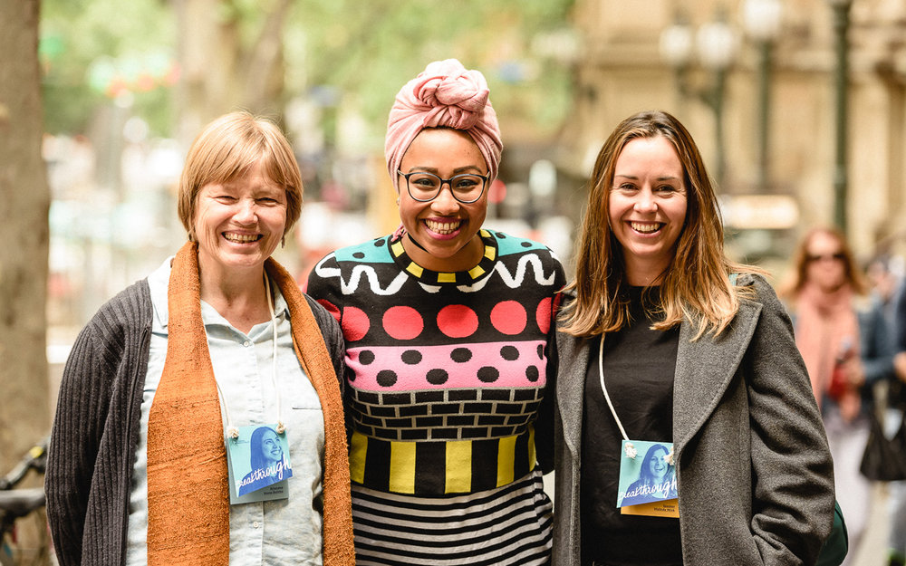 Yassmin Abdel-Magied with fans