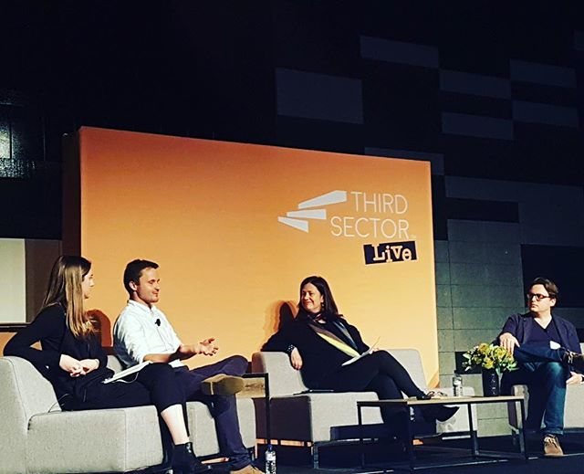 Today our founder, Sally Hill, was on a panel at Third Sector Live in Melbourne talking about #disruptivemarketing and our very own @purpose_do conference. #TSL2017 #thirdsectorlive #nfp #purpose @thirdsectormag Photo: Liz Pearson