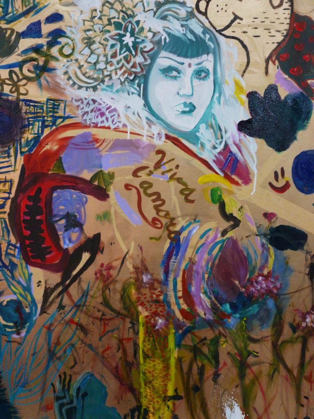 Detail of WOAS mural