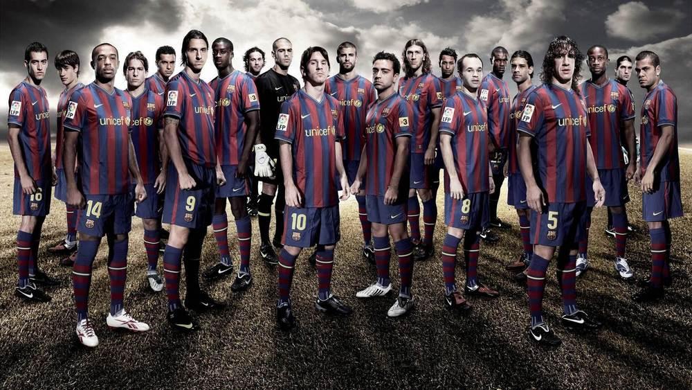 Barcelona Team Picture