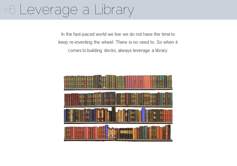 Rule #6 - Leverage a Library (7 Deck Rules)