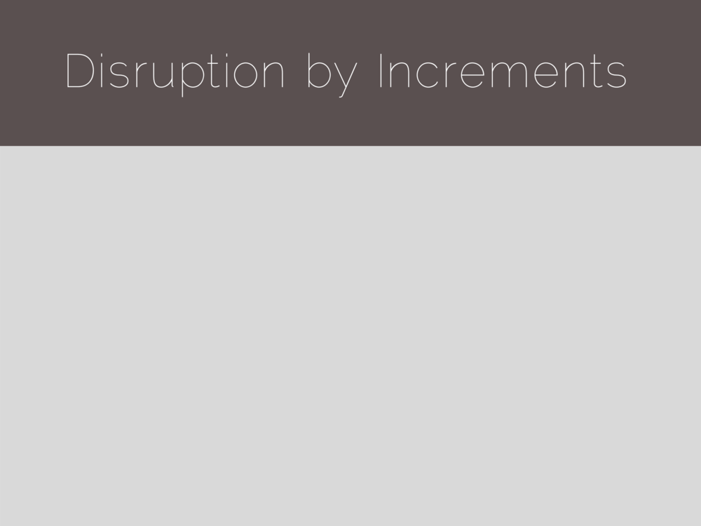 Disruption by Increments