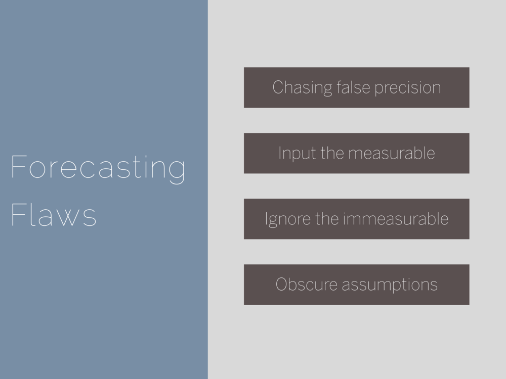 Forecasting Flaws