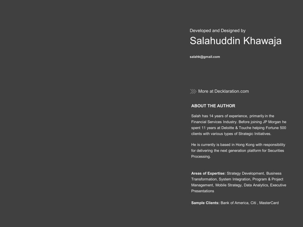 Developed and Designed by Salahuddin Khawaja