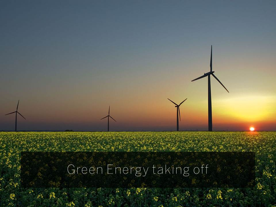 Green energy taking off