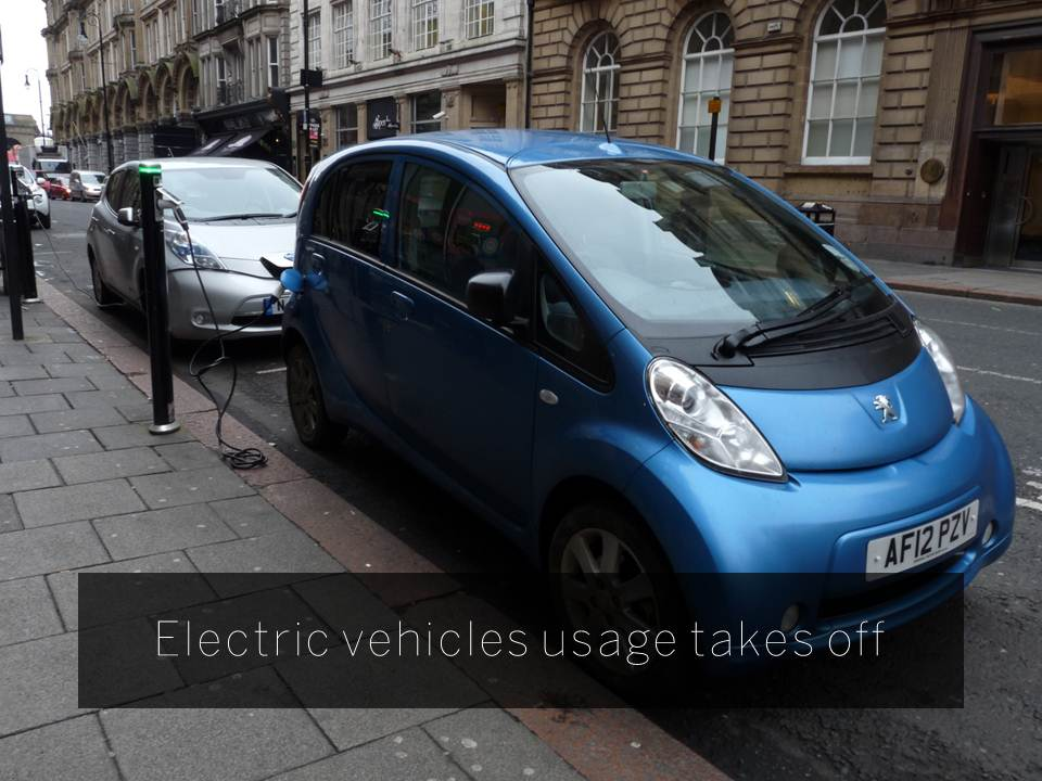 Electric vehicles usage takes off