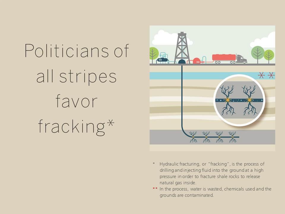 Politicians of all stripes favor fracking*