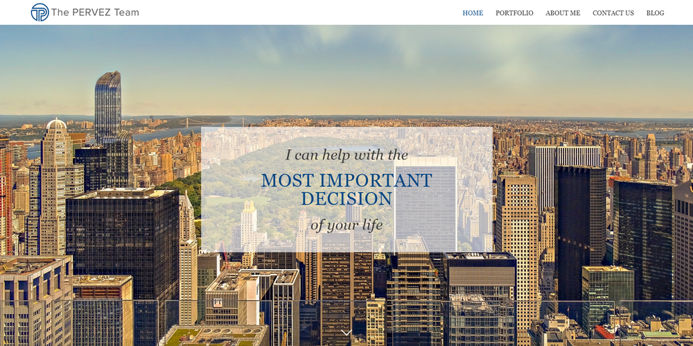 A website developed for a real estate client.   View full website