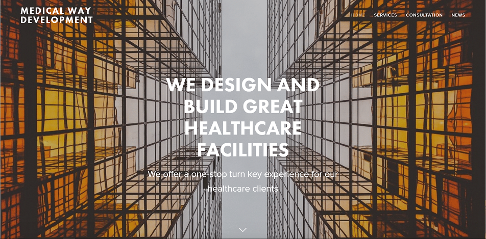 A website we designed for healthcare facility design firm.   View full website