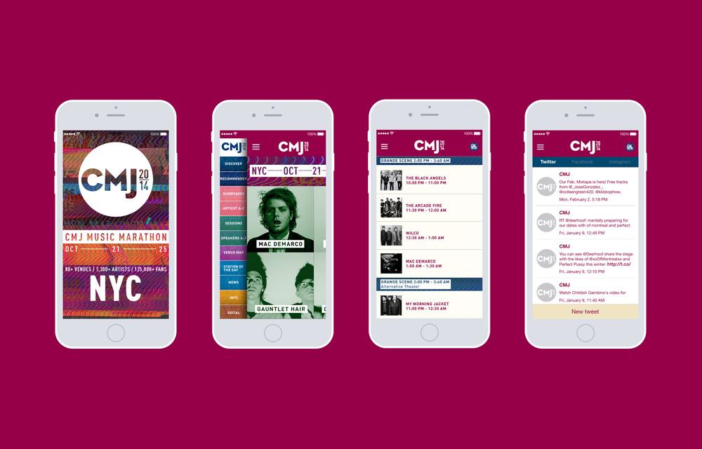 CMJ Music Marathon 2014 brand identity