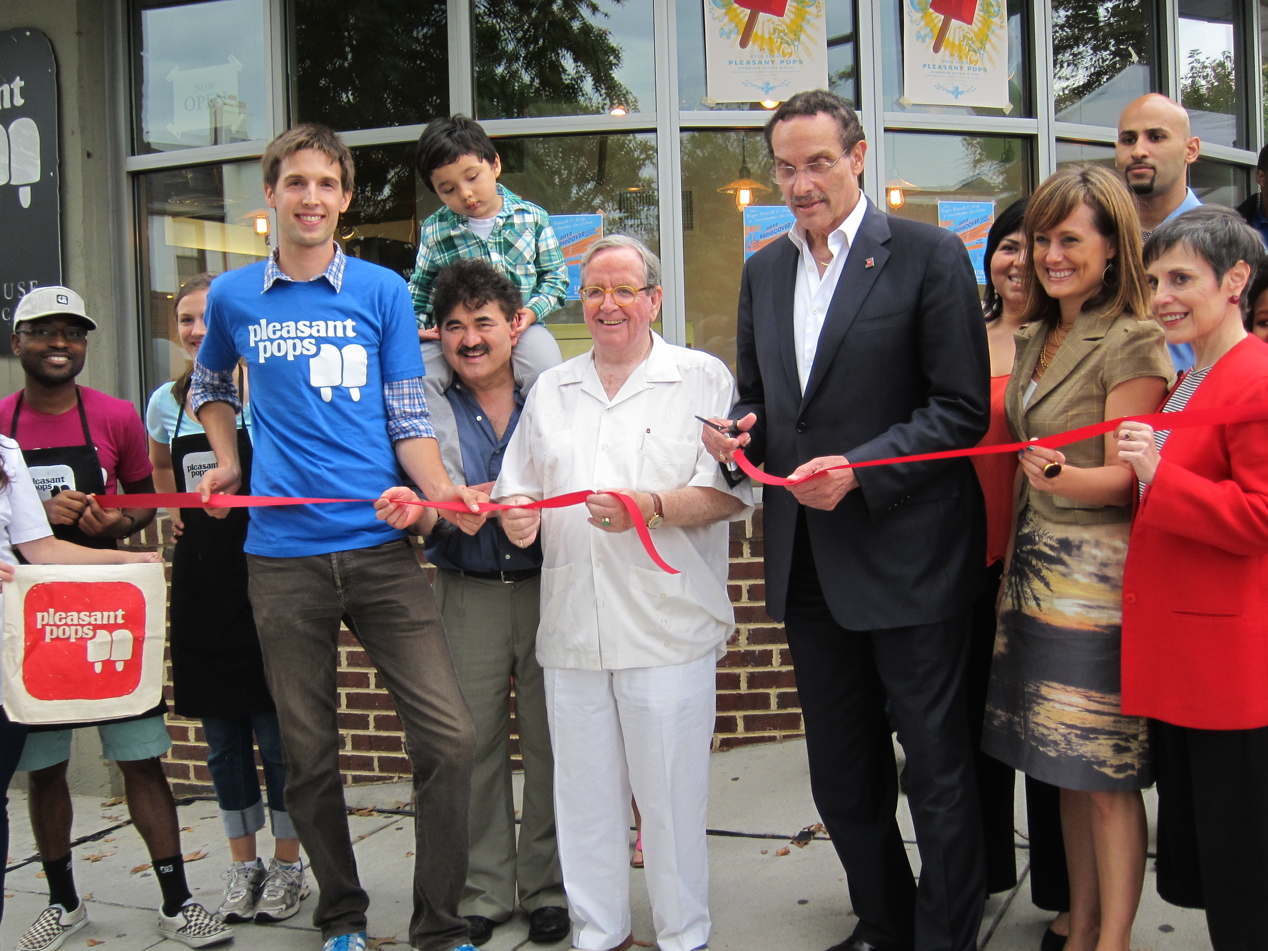 Ribbon cutting with DC Mayor Vincent Gray and Ward One Councilmember Jim Graham